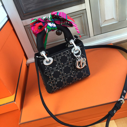 Christian Dior MINI LADY DIOR SATIN BAG