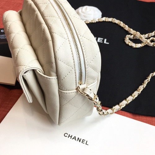 Chanel White Camera Case 2019