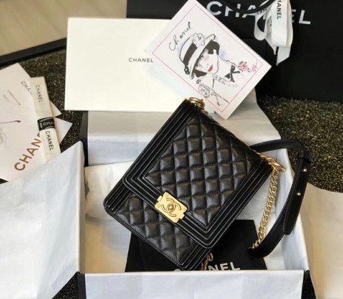 Chanel 2019 BOY CHANEL Handbag AS0130 Black