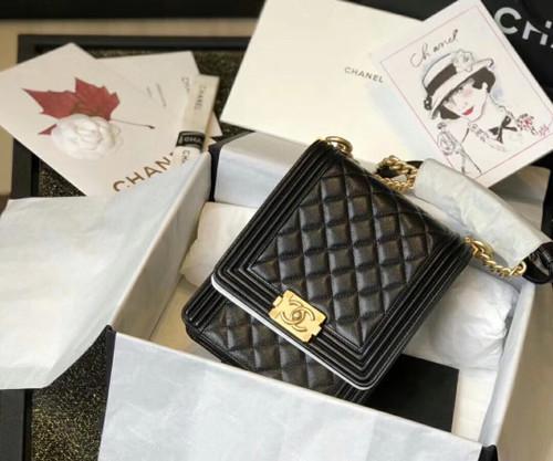 Chanel 2019 BOY CHANEL Handbag AS0130 Black