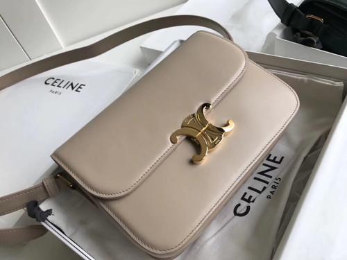 Celine MEDIUM TRIOMPHE BAG IN SHINY CALFSKIN NUDE ccb6838721566
