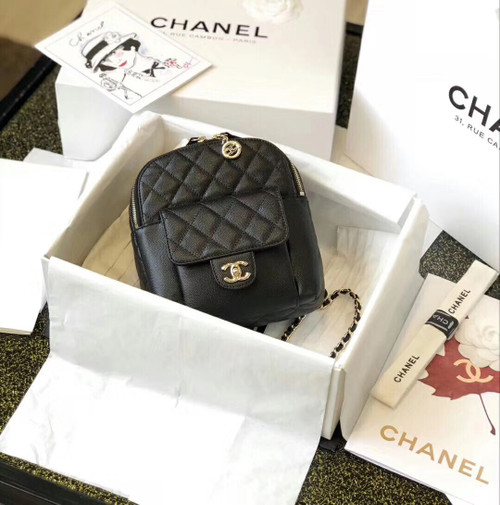 Chanel Backpack as0004 SS2019 Black