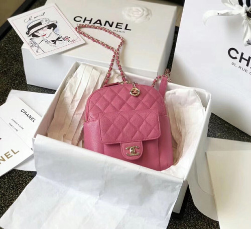 Chanel Backpack as0004 SS2019 Pink