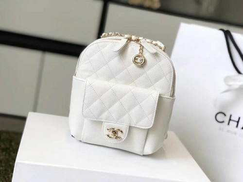 Chanel Backpack as0004 SS2019 White