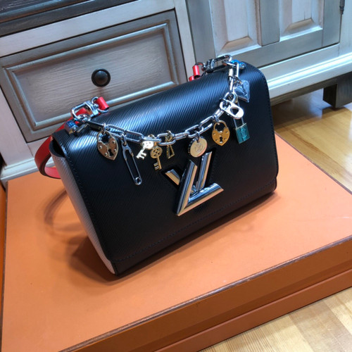 Louis Vuitto Limited Edition TWIST MM Chain Bag with Charms