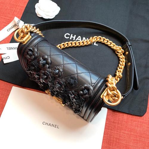 ad5cdb2d8e09 ... Chanel Limited Edition Embroidered Small BOY CHANEL Handbag 2019 ...