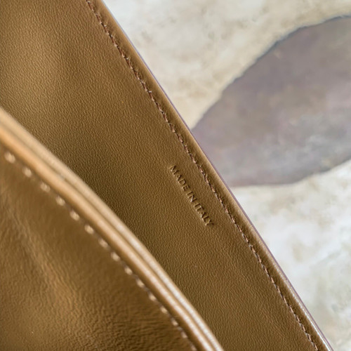 Celine LARGE TRIOMPHE BAG IN TEXTILE AND NATURAL CALFSKI