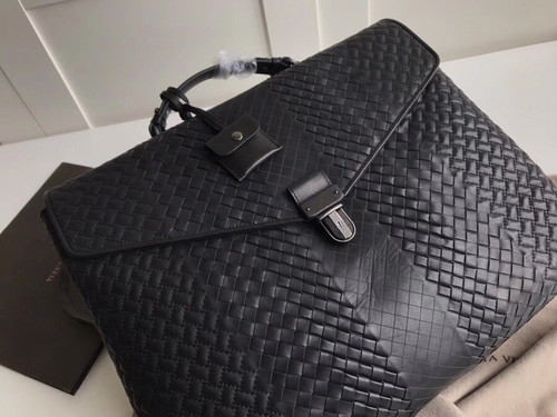 Bottega Veneta BRIEFCASE IN NERO INTRECCIO IMPERATORE
