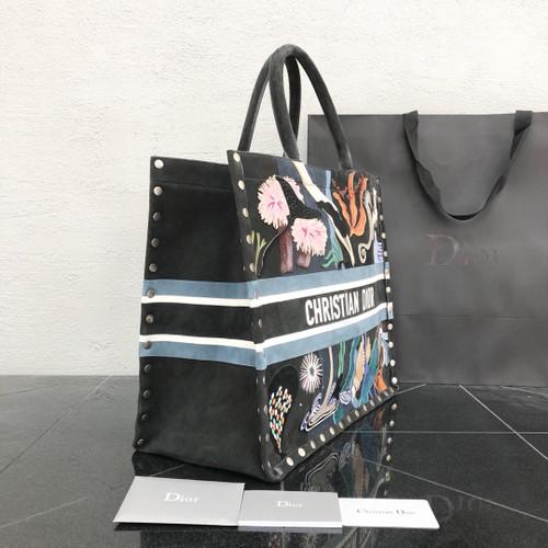 Christian Dior  multicolour suede book tote 2018