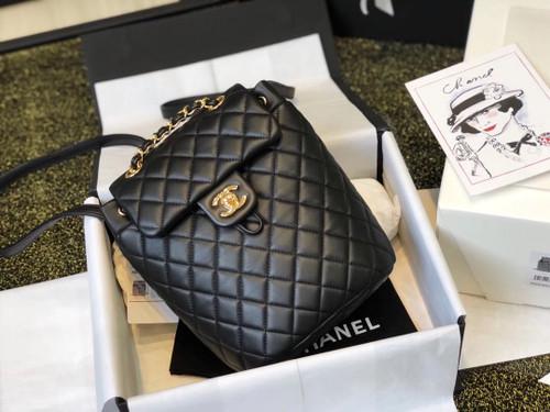 Chanel Black lambskin backpack 2019
