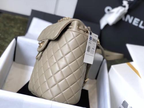 Chanel Beige lambskin backpack 2019