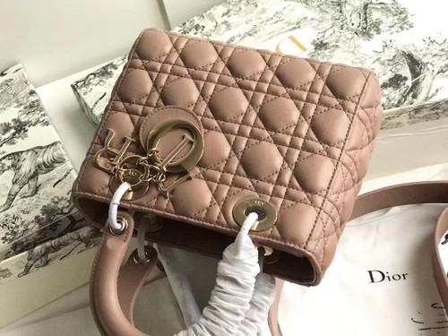 Christian Dior MY ABCDIOR LAMBSKIN BAG Nude
