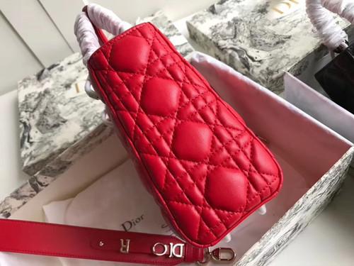 Christian Dior MY ABCDIOR LAMBSKIN BAG Bright Red
