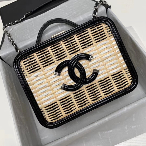 Chanel  Rattan Vanity Case