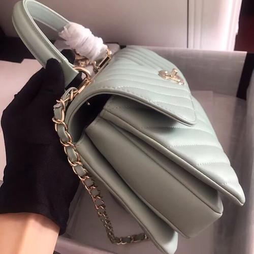 1de26d94aaa7 Chanel Small Flap Bag With Top Handle 2019 A69923 Mint - Bella Vita Moda