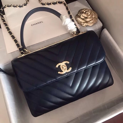 38dfcc5cd65b Chanel Small Flap Bag With Top Handle 2019 A69923 Black - Bella Vita ...