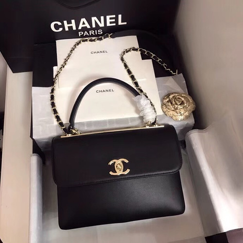 Chanel Small Flap Bag With Top Handle A57147 Black