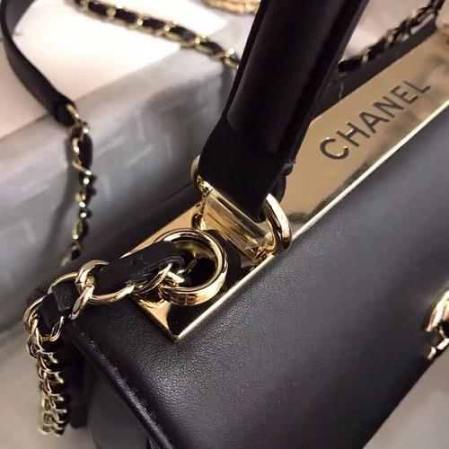 70896a82081b Chanel Small Flap Bag With Top Handle A57147 Black - Bella Vita Moda