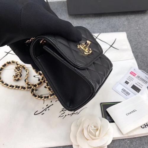 Chanel Lambskin Chain Elegant Style Shoulder Bags[ 2019 Cruise ] Black