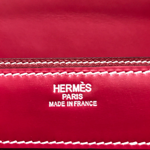 Hermes Kelly Depeche 38 Briefcase in Bordeaux Box Leather with Palladium Hardware