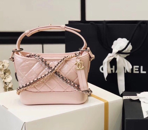CHANEL'S Iridescent GABRIELLE Small Hobo Bag Pink