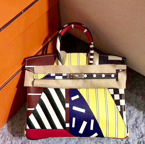 Hermes Birkin 25 Multicolor Swift - One Two Three And Away We Go! Limited Edition By Nigel Peak