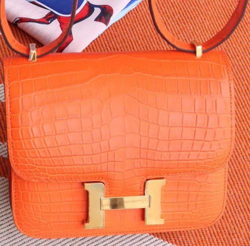 Hermes Orange Constance 18 Alligator