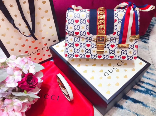 Gucci Limited Edition Chinese Valentine's Day Sylvie small shoulder bag