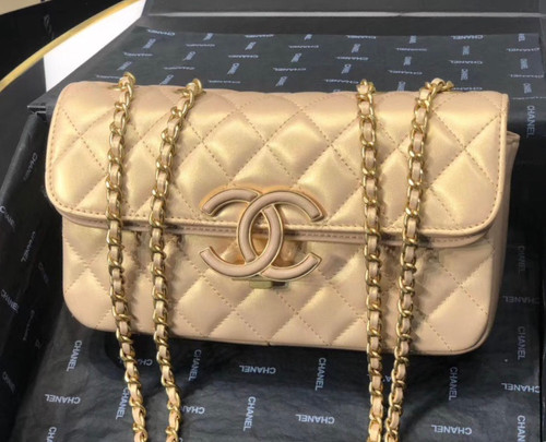 Chanel Small Flap Bag A57275 Gold