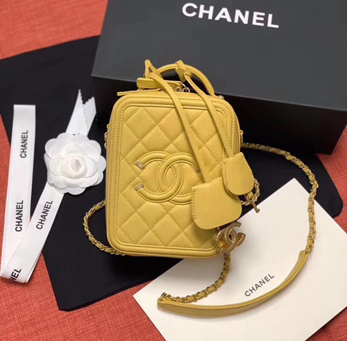 Chanel Vanity Case AS0988 Yellow