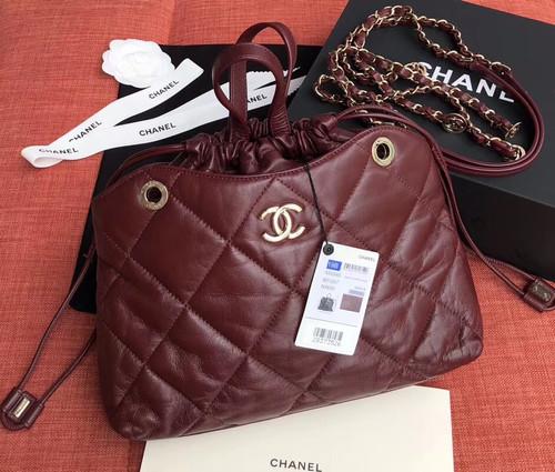 Chanel Shopping Bag SS2019 Bordeaux