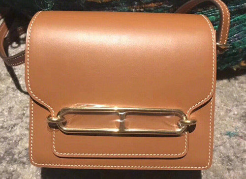 Hermes Barenia Leather Gold Roulis Bag