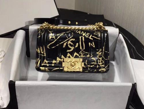 CHANEL Limited Edition Crocodile Embossed Small BOY CHANEL Handbag SS2019