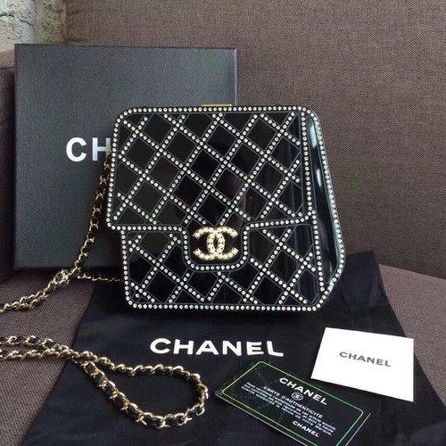 Chanel Limited Edition Metiers D'art 2016/17  Resin/Strass/Pearls Evening Bag