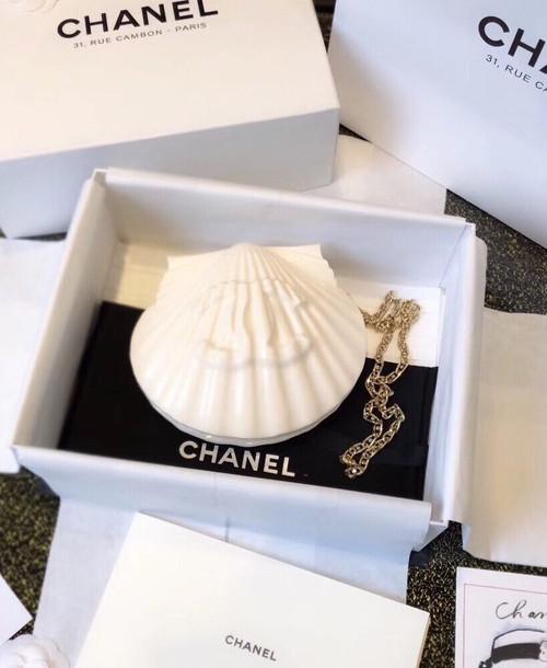 Chanel  Limited Edition shell plexiglass clutch 2019