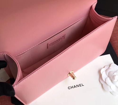 Chanel  BOY CHANEL Handbag With Imitation Pearls Pink