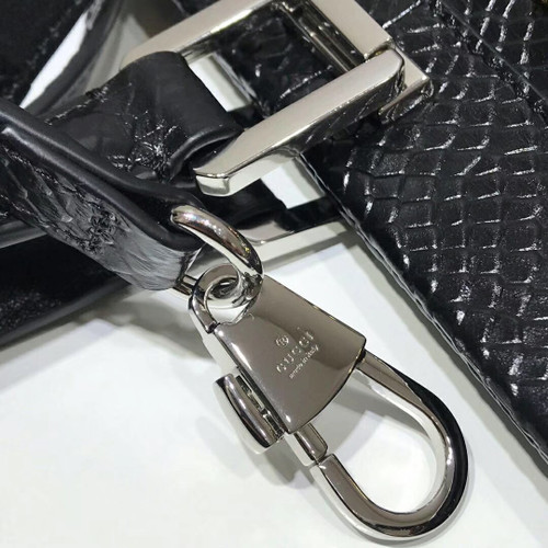Gucci Zumi snakeskin medium top handle bag