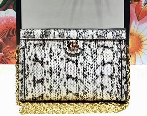 Gucci Ophidia small snakeskin shoulder bag Grey
