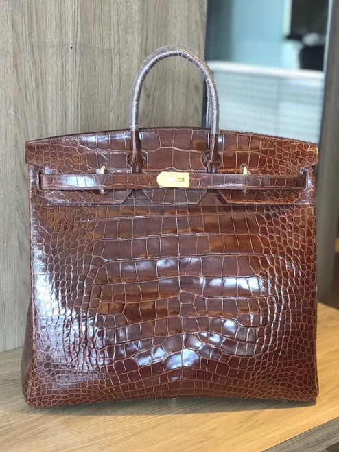 Hermes Birkin 50 HAC Alligator Gold Hardware