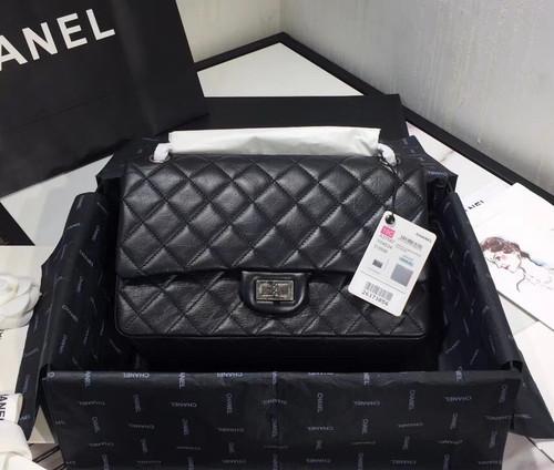 Chanel Large Aged Calfskin  2.55 Handbag SHW