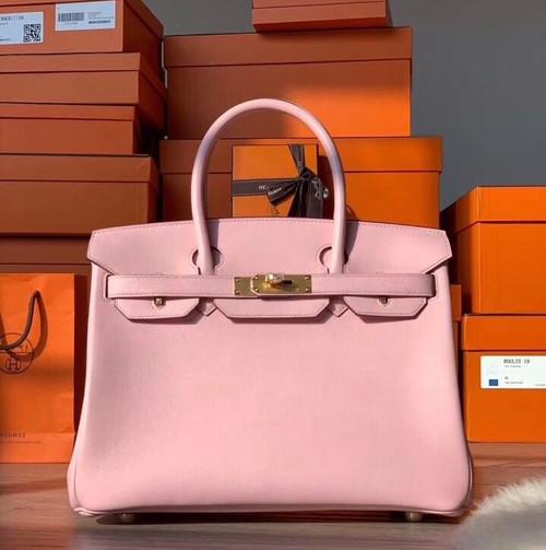 Hermès Sakura Pink Birkin 30 cm Swift Leather Gold Hardware