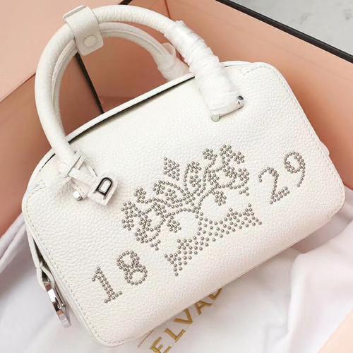 Delvaux  Limited Edition Cool Box Mini Studs White