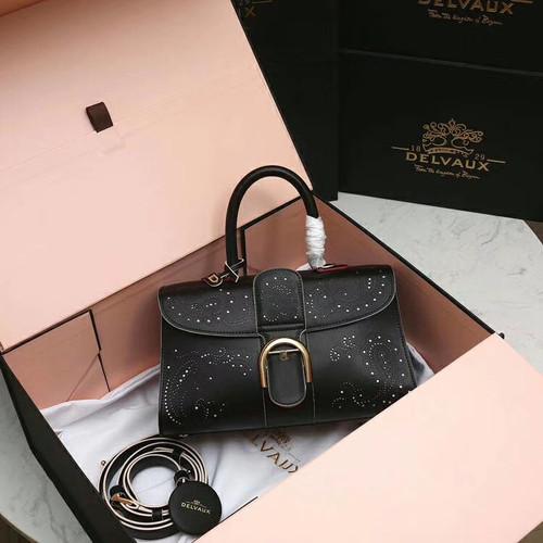 Delvaux Le Brilliant East/West mini Cashmere bag Black