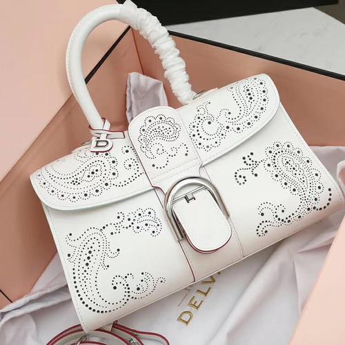 Delvaux Le Brilliant East/West mini Cashmere bag White