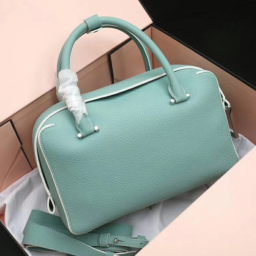 DELVAUX Cool Box Leather Satchel Green