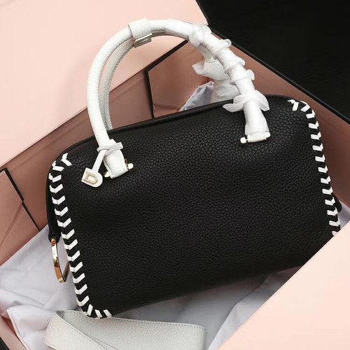 DELVAUX Limited Edition Cool Box Leather Satchel Black & White