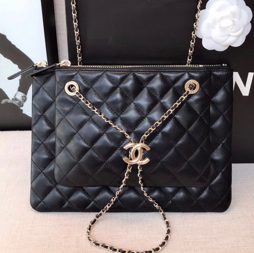 Chanel Clutch With Chain Black