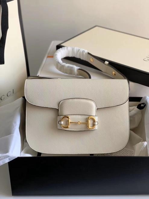 Gucci 1955 Horsebit shoulder bag White