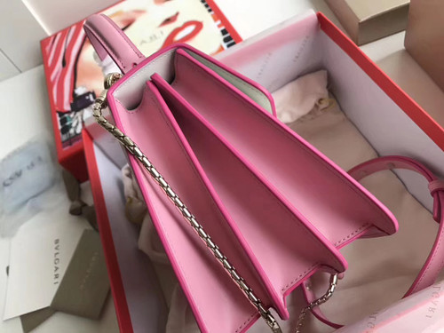 BVLGARI Limited Edition Serpenti Forever leather shoulder bag Pink