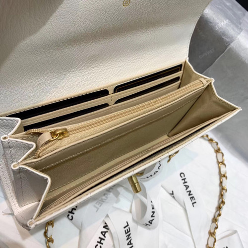 Chanel Clutch with Chain White  AP1001